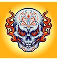 dia de los muertos fire skull vector image vector image