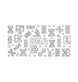 dna science concept horizontal banner vector image