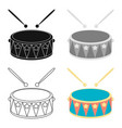 drum cartoon icon for web and mobile vector image