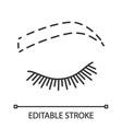eyebrow contouring linear icon vector image vector image