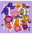 Floral Love Graphic Design vector image vector image