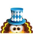 Funny turkey Oktoberfest Card Design Template vector image vector image