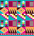 geometric tribal kente seamless pattern vector image