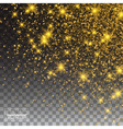 Gold Glitter Dust Texture Sparkling background vector image vector image