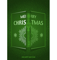 Green Merry Christmas Greeting vector image vector image