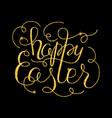 happy easter glitter golden hand lettering vector image vector image