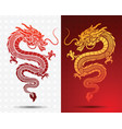 hinese dragon vector image vector image