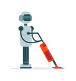 housemaid android character with vacuum cleaner vector image vector image