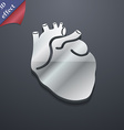 Human heart icon symbol 3D style Trendy modern vector image