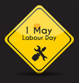 labour day 1 may poster vector image vector image