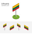 lithuania flag set of 3d isometric icons vector image vector image