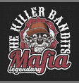 mafia gangsterbandits with letter killer vector image vector image