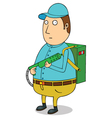 Man with flare gun vector image