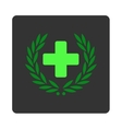 Medical Glory Flat Button vector image vector image