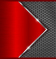 metal red background with perforation vector image vector image