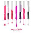 nail polish examples realistic set vector image vector image