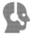 operator halftone icon vector image