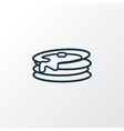 pancake icon line symbol premium quality isolated vector image