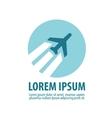 plane logo design template aircraft vector image