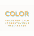 retro font and alphabet stock vector image vector image