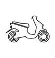 scooter it is black icon vector image vector image