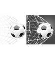 score a goal soccer ball vector image vector image