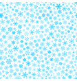 seamless pattern of snowflakes light blue on white vector image vector image