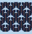 seamless pattern with passenger airplanes over vector image vector image