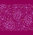 seamless purple floral wallpaper vector image vector image