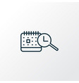 search time schedule icon line symbol premium vector image