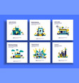 set modern flat design templates for business vector image vector image