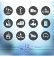 Set of oil and gas icons vector image