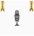 Simple retro microphone vector image vector image