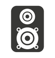 speaker sound silhouette icon vector image