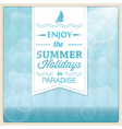 Summer holiday card design vector image vector image