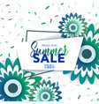 summer sale banner with flowers vector image vector image