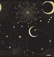 sun and moon tarot sign seamless pattern design vector image vector image