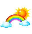 Sun and rainbow vector image vector image