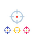 target aim crosshair icons vector image vector image