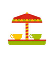 tea cup carousel icon flat style vector image vector image