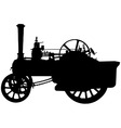 traction engine vector image vector image