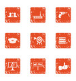 transport car icons set grunge style vector image