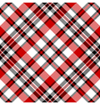 White red diagonal check square pixel seamless vector image vector image