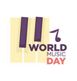 world music day isolated icon musical vector image vector image