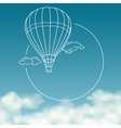 Balloon on background of cloudy sky with space for vector image