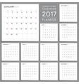 Calendar Planner Design Week starts from Sunday vector image
