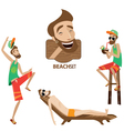 Set of beach men vector image