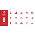 15 controller icons vector image vector image
