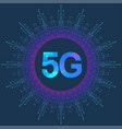 5g network wireless system and internet connection vector image vector image
