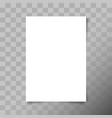a4 format paper sheet white blank paper sheet vector image